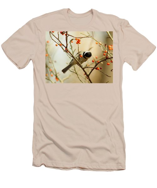 Chickadee 1 Of 2 Men's T-Shirt (Athletic Fit)