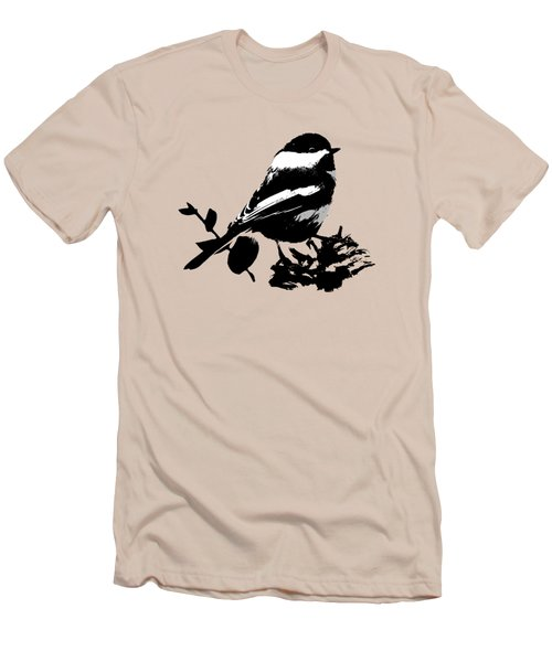 Chickadee Bird Pattern Men's T-Shirt (Slim Fit) by Christina Rollo
