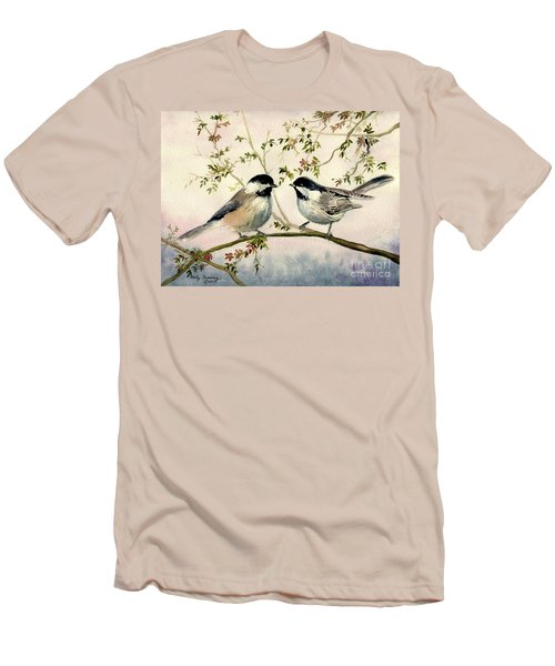 Chickadee Love Men's T-Shirt (Slim Fit) by Melly Terpening