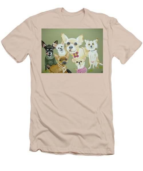 Chihuahuas Men's T-Shirt (Athletic Fit)