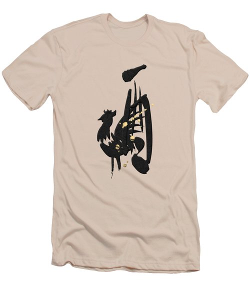 Chinese Zodiac - Year Of The Rooster On Rice Paper Men's T-Shirt (Athletic Fit)