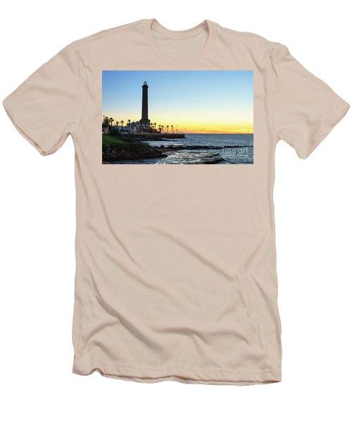 Chipiona Lighthouse Cadiz Spain Men's T-Shirt (Slim Fit) by Pablo Avanzini