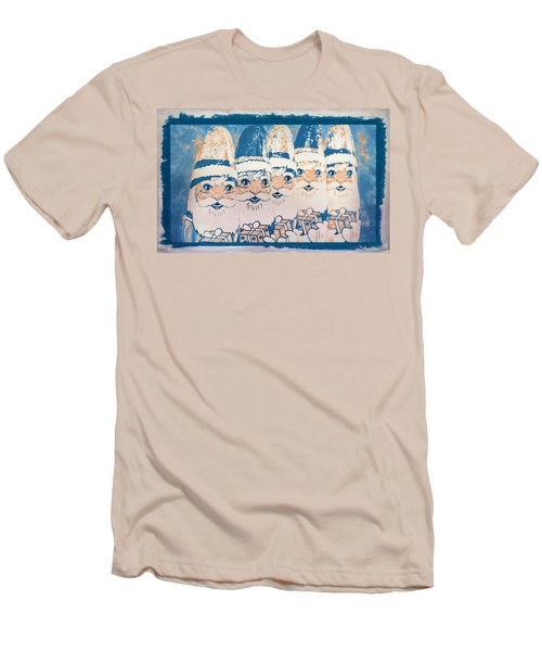 Men's T-Shirt (Athletic Fit) featuring the photograph Chocolate Santas by Bellesouth Studio