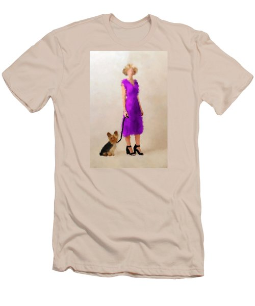 Men's T-Shirt (Slim Fit) featuring the digital art Christina by Nancy Levan