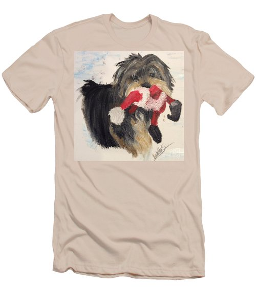 Christmas Yorkie Men's T-Shirt (Athletic Fit)