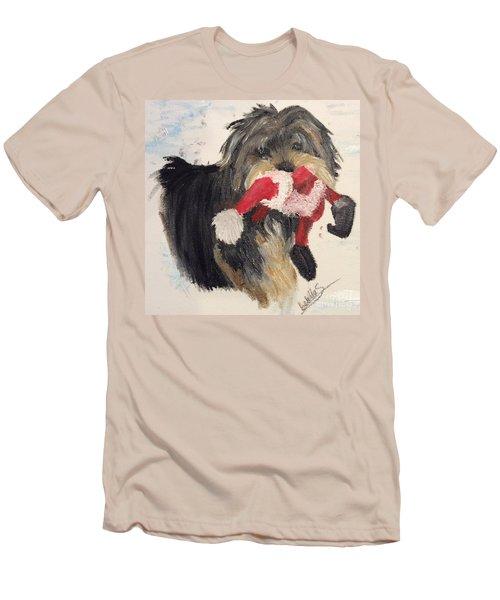 Christmas Yorkie Men's T-Shirt (Athletic Fit)