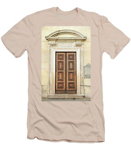 Church Door Men's T-Shirt (Athletic Fit)