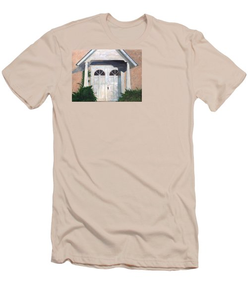 Church Doors Men's T-Shirt (Slim Fit) by T Fry-Green