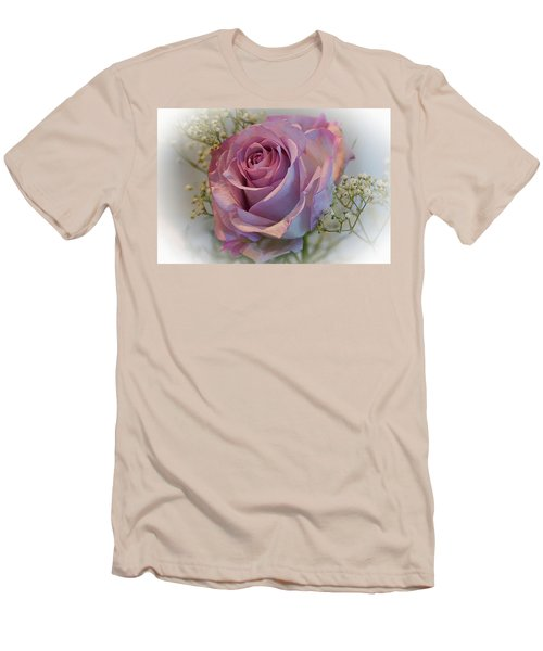 Cindy's Rose Men's T-Shirt (Slim Fit) by Judy Johnson