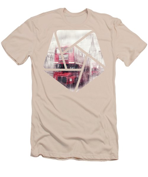 City-art London Westminster Collage II Men's T-Shirt (Slim Fit) by Melanie Viola