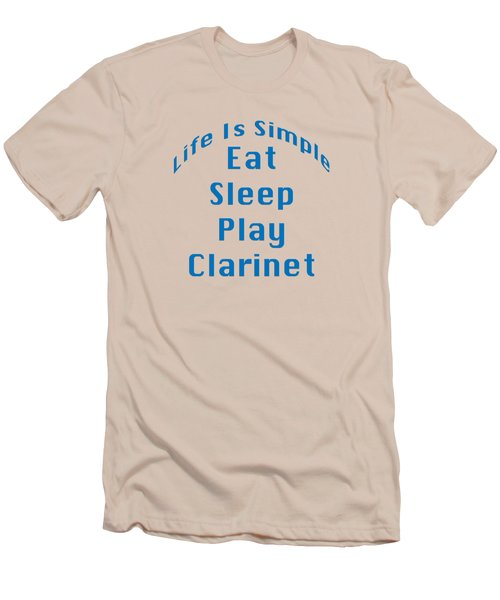 Clarinet Eat Sleep Play Clarinet 5512.02 Men's T-Shirt (Slim Fit) by M K  Miller
