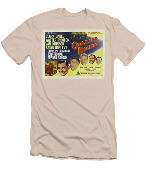 Men's T-Shirt (Athletic Fit) featuring the photograph Clark Gable Movie Poster Command Decision by R Muirhead Art