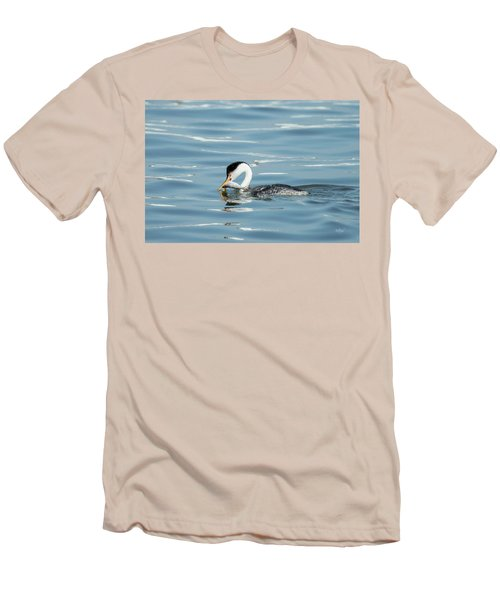 Men's T-Shirt (Slim Fit) featuring the photograph Clarks Grebe by Everet Regal