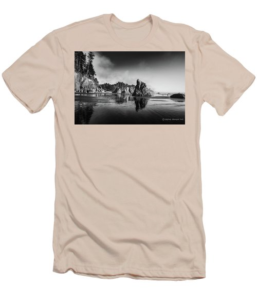 Clear Day At Ruby Beach Men's T-Shirt (Athletic Fit)