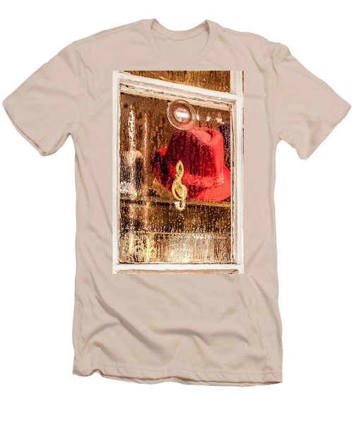 Clef And Hat Men's T-Shirt (Athletic Fit)