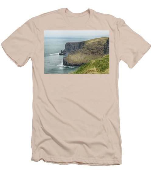 Men's T-Shirt (Slim Fit) featuring the photograph Cliffs Of Moher 1 by Marie Leslie