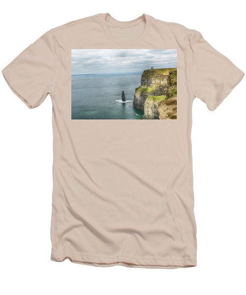 Men's T-Shirt (Slim Fit) featuring the photograph Cliffs Of Moher 3 by Marie Leslie