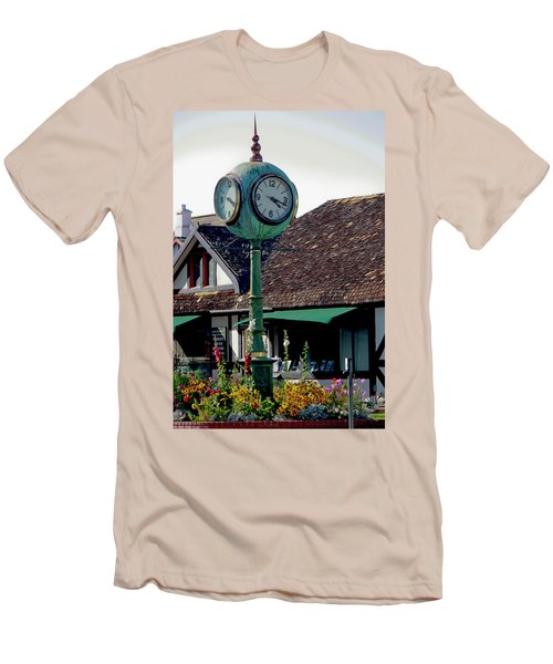 Clock Of Solvang Men's T-Shirt (Athletic Fit)