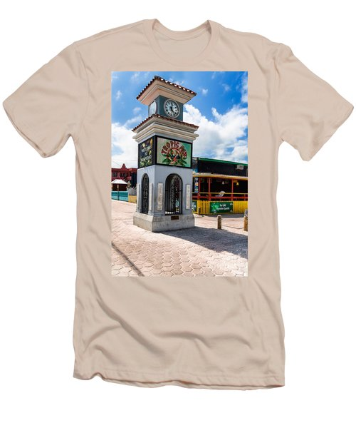 Men's T-Shirt (Slim Fit) featuring the photograph Clock Tower by Lawrence Burry