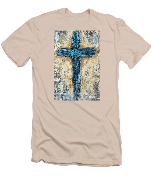 Clothe Yourself In Mercy Men's T-Shirt (Slim Fit) by Kirsten Reed