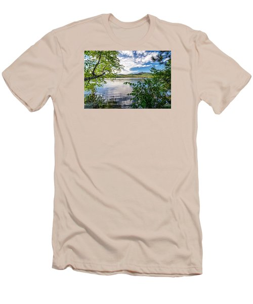 Cloud Swirl Mt. Chocorua Nh Men's T-Shirt (Slim Fit) by Michael Hubley