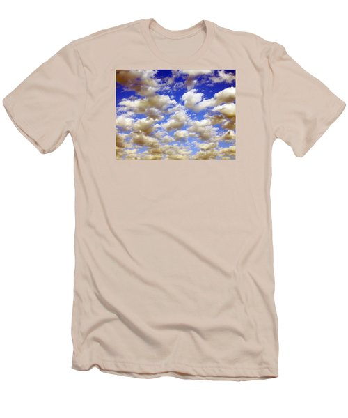 Clouds Blue Sky Men's T-Shirt (Slim Fit) by Jana Russon