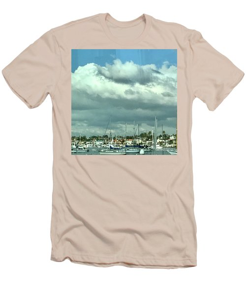 Clouds On The Bay Men's T-Shirt (Slim Fit) by Kim Nelson