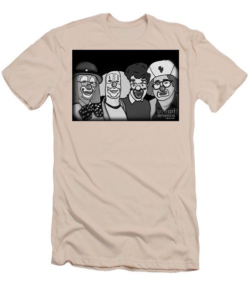Clowns Bw Men's T-Shirt (Slim Fit) by Megan Dirsa-DuBois