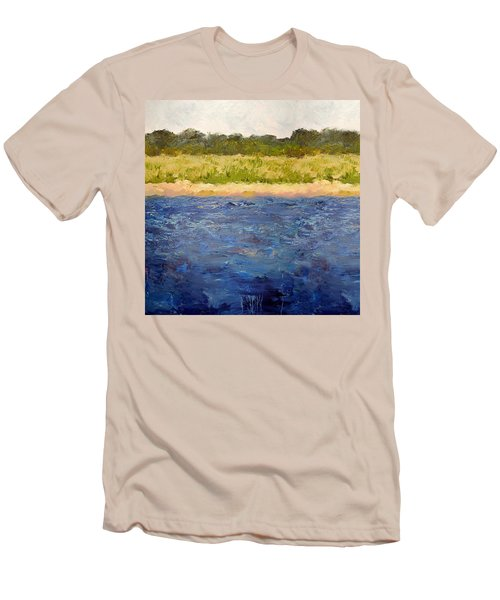 Men's T-Shirt (Athletic Fit) featuring the painting Coastal Dunes - Square by Michelle Calkins