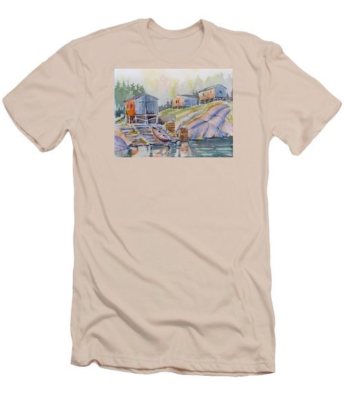 Coastal Village - Newfoundland Men's T-Shirt (Athletic Fit)