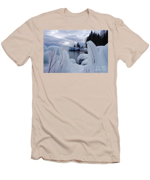 Coated With Ice Men's T-Shirt (Slim Fit) by Sandra Updyke