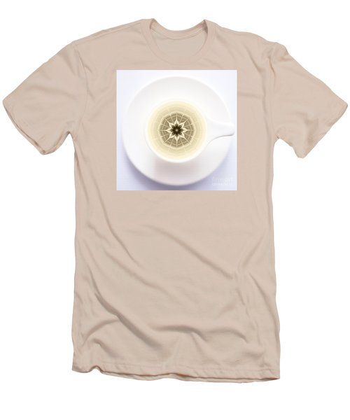 Coffe Foam Mandala Men's T-Shirt (Slim Fit) by Klara Acel