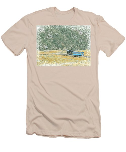 Cog Railroad Train. Men's T-Shirt (Athletic Fit)