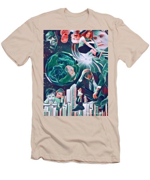 Cognitive Dissonance Men's T-Shirt (Slim Fit) by Vennie Kocsis