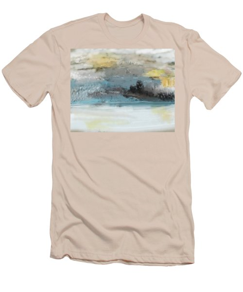 Cold Day Lakeside Abstract Landscape Men's T-Shirt (Athletic Fit)
