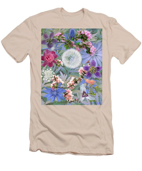 Men's T-Shirt (Slim Fit) featuring the digital art Collage One by John Selmer Sr