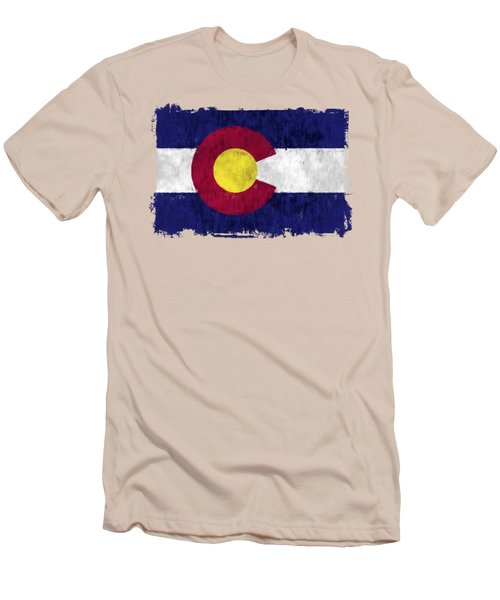Colorado Flag Men's T-Shirt (Athletic Fit)