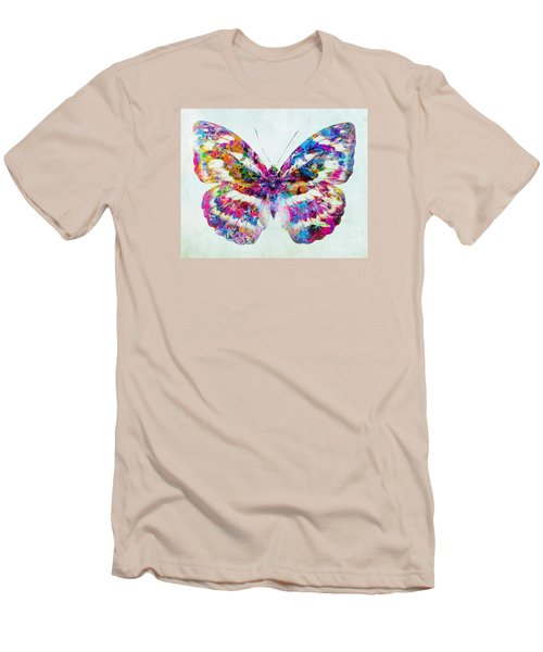 Colorful Butterfly Art Men's T-Shirt (Slim Fit) by Olga Hamilton