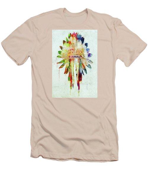 Colorful Lakota Sioux Headdress Men's T-Shirt (Athletic Fit)
