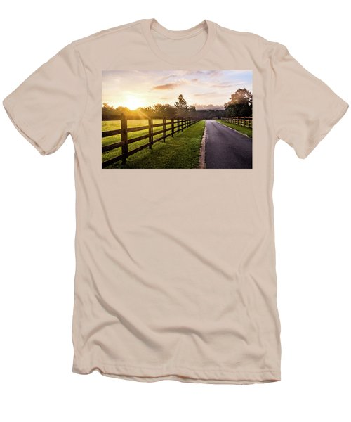 Men's T-Shirt (Slim Fit) featuring the photograph Colorful Palette At Sunrise by Shelby Young