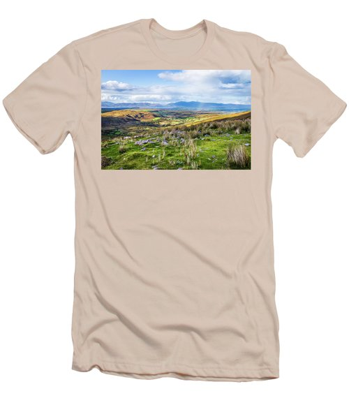 Men's T-Shirt (Slim Fit) featuring the photograph Colourful Undulating Irish Landscape In Kerry  by Semmick Photo