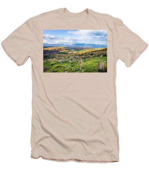 Colourful Undulating Irish Landscape In Kerry  Men's T-Shirt (Slim Fit) by Semmick Photo