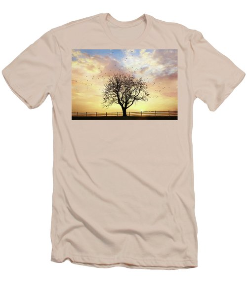 Men's T-Shirt (Slim Fit) featuring the photograph Come Fly Away by Lori Deiter