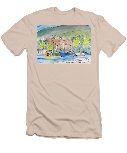 Fishing Boats In Hobart's Victoria Dock Men's T-Shirt (Athletic Fit)