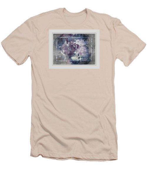 Common Buckeye In Blues Men's T-Shirt (Slim Fit) by Karen McKenzie McAdoo
