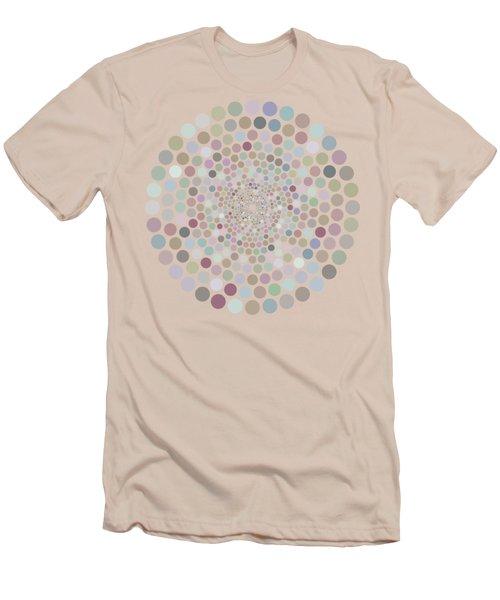 Vortex Circle - White Men's T-Shirt (Athletic Fit)