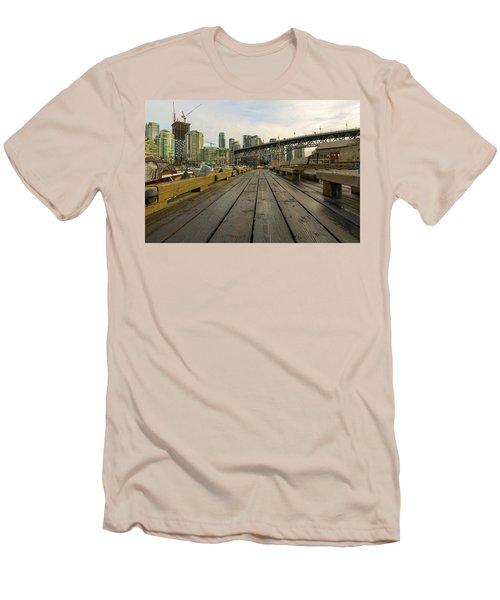Condominium Buildings Along Granville Island Vancouver Bc Men's T-Shirt (Athletic Fit)