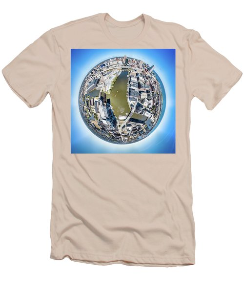Men's T-Shirt (Athletic Fit) featuring the photograph Confluence by Randy Scherkenbach