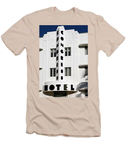 Congress Hotel. Miami. Fl. Usa Men's T-Shirt (Athletic Fit)