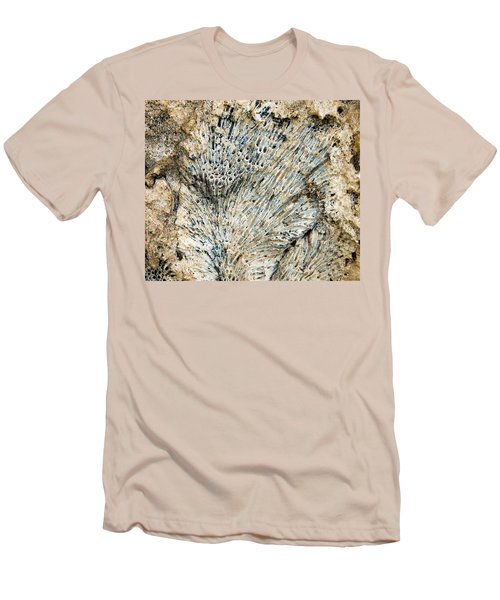 Men's T-Shirt (Slim Fit) featuring the photograph Coral Fossil by Jean Noren